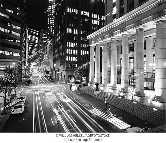Battery Street at night. Financial district. San Francisco. USA