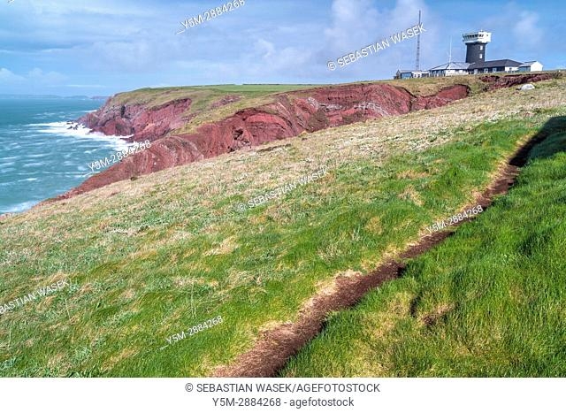 St. Ann's Head at the entrance to the Milford Haven waterway, Dale, Pembrokeshire National Park, Wales, United KIngdom, Europe
