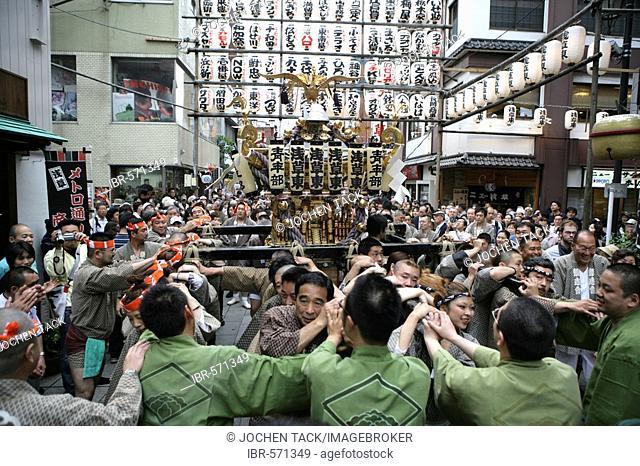 Matsuri Shrine festival, Asakusa Jinja Shrine, Tokyo, Japan, Asia
