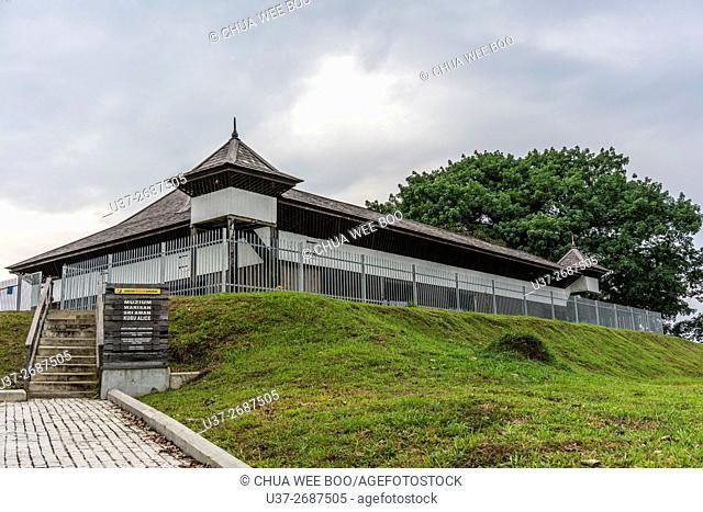 Fort Asia built during British Colony restored and turned into museum, Bandar Sri Aman (Simanggang), Sarawak, Malaysia