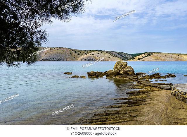 Famous the rock landmark in Lopar on Rab island in Croatia