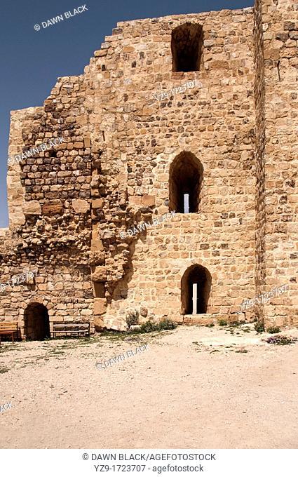 Keep Wall, Kerak Castel, Kerak, Jordan
