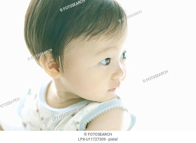 Baby looking away