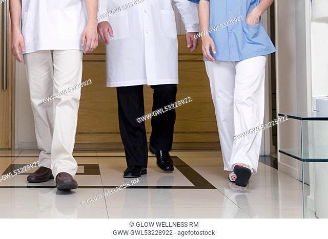 Doctors walking in the hospital