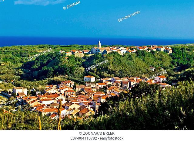 Mediterranean town of Susak, Croatia
