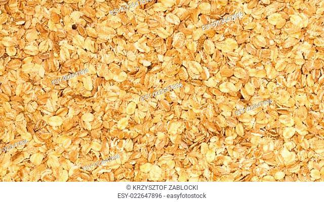 Close up porridge oats background texture. Diet healthy nutrition