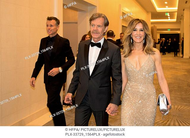 Presenters, William H. Macy and Felicity Huffman at the 76th Annual Golden Globe Awards at the Beverly Hilton in Beverly Hills, CA on Sunday, January 6, 2019