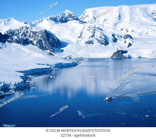 Cruise vessel. Antarctic Peninsula