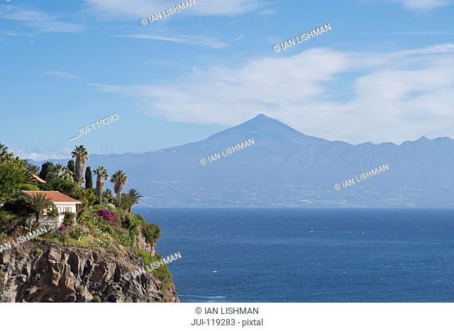 View of Mount Teide on Tenerife from La Gomera, Canary Islands