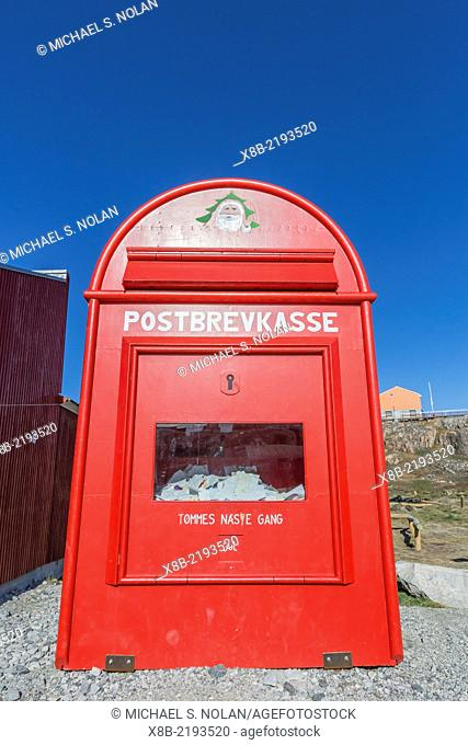 Mailbox for Santa Claus and the north pole in the town of Ilulissat, Greenland