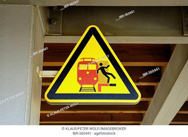 Danger sign, Deutsche Bahn, Germany