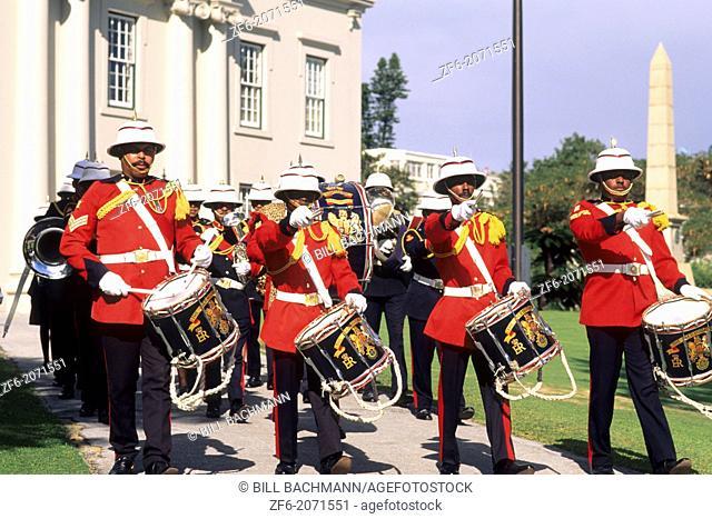 Colorful Regiment Band in Bermuda