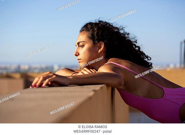 Portrait of teenage girl, looking at view