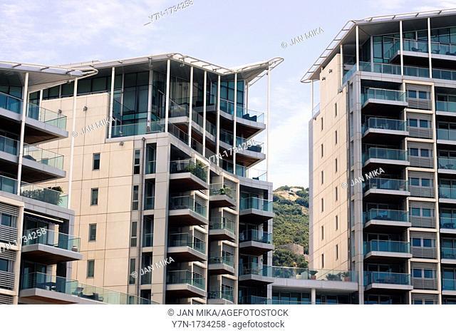 Block of flats in Ocean Village, Gibraltar