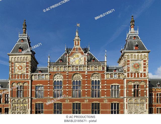 Ornate building under blue sky