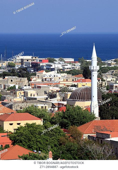 Greece, Dodecanese, Rhodes, Mosque of Ibrahim Pasha,