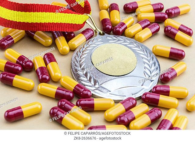 Doping in sport concept