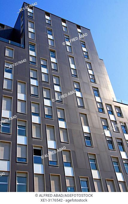 Apartment building, Zona Franca, Barcelona, Catalonia, Spain