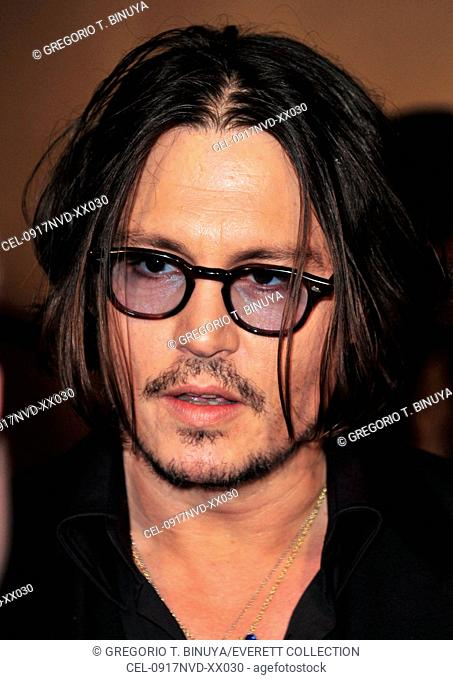 Johnny Depp at arrivals for The Museum of Modern Art Film Benefit: A Tribute to TIM BURTON, MoMA Museum of Modern Art, New York, NY November 17, 2009