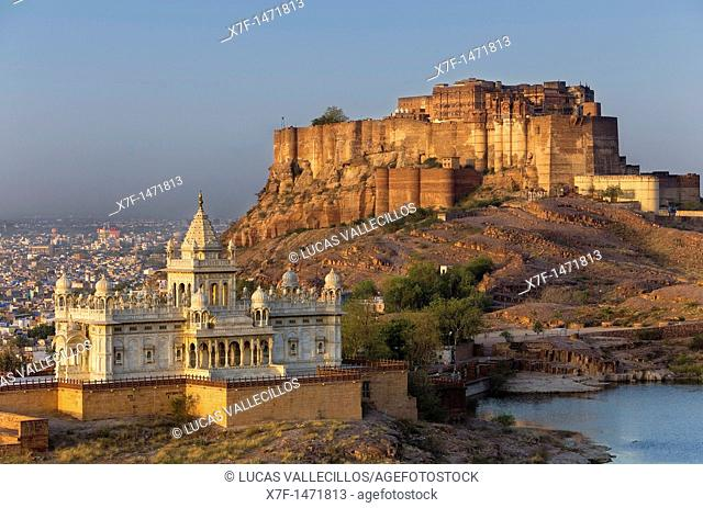 Jaswant Thada and Mehrangarh Fort,Jodhpur, Rajasthan, India