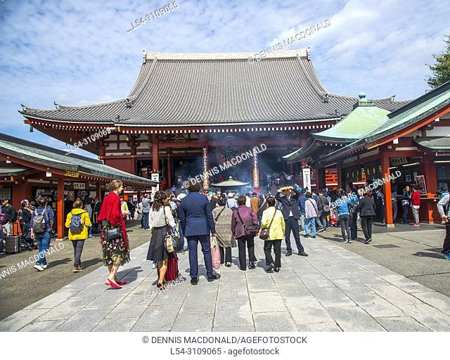 Asakusa Shinto Shrine Tokyo Japan Asia
