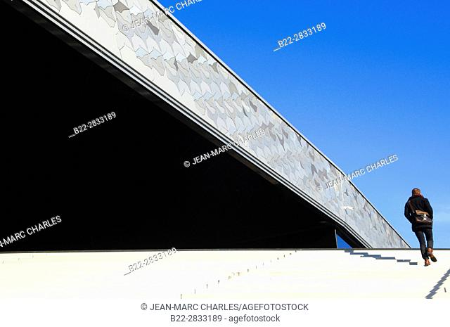 New Philharmonie concert hall, Parc de La Villette, architect : Jean Nouvel, Paris, France
