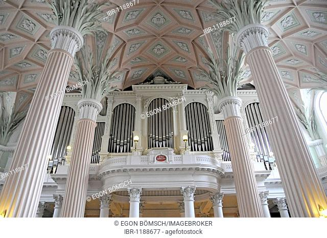St. Nikolai Church, organ, Leipzig, Saxony, Germany, Europe