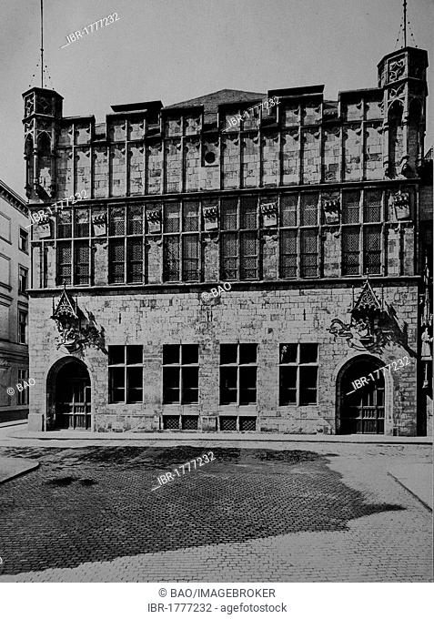 Dance hall and department store Guerzenich in Cologne, North Rhine-Westphalia, Germany, Europe, historical photograph, around 1899