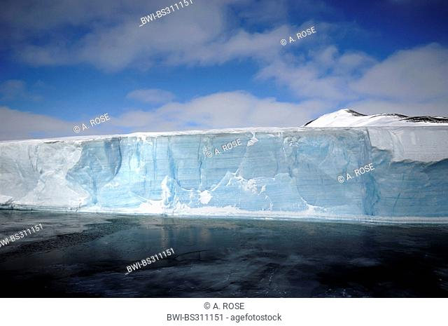 Edge of the disintegrated iceshelf in the Larsen A area, Antarctica, Antarctic Peninsula