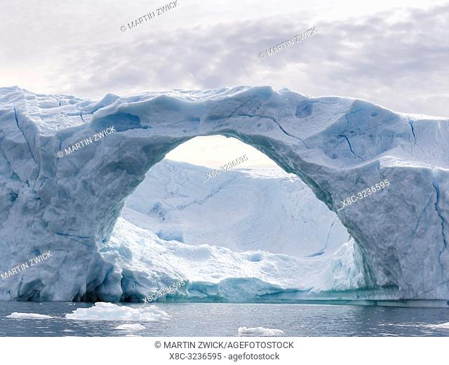 Icebergs in the Disko Bay, Greenland, Denmark, August