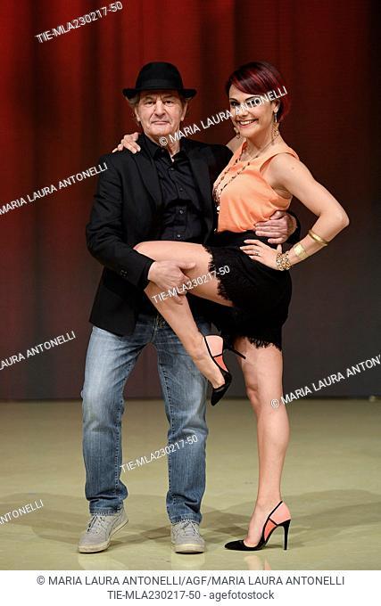 Fausto Leali and Ornella Boccafoschi during the photo call of talent show ' Ballando con le stelle ' Rome, ITALY-23-02-2017