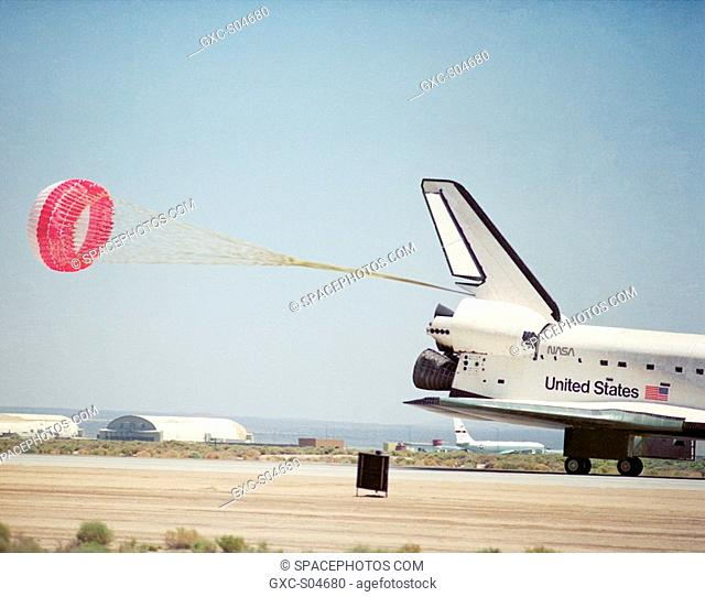The Space Shuttle Endeavour concludes mission STS-49 at NASA's Ames-Dryden Flight Research Facility later redesignated Dryden Flight Research Center, Edwards