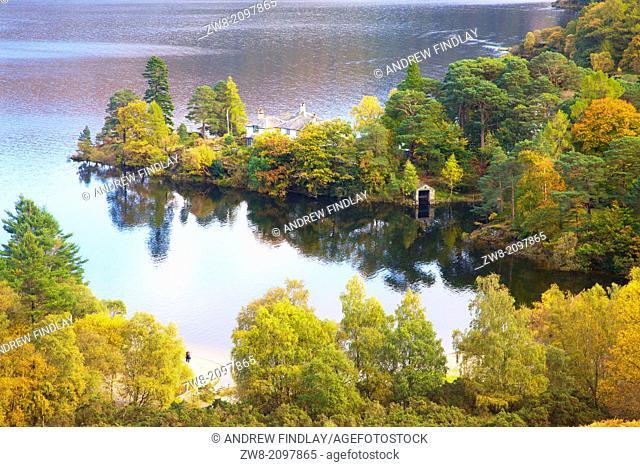 Brandelhow Point by Brandelhow Bay Derwent Water Lake District National Park Cumbria England United Kingdom Great Britain