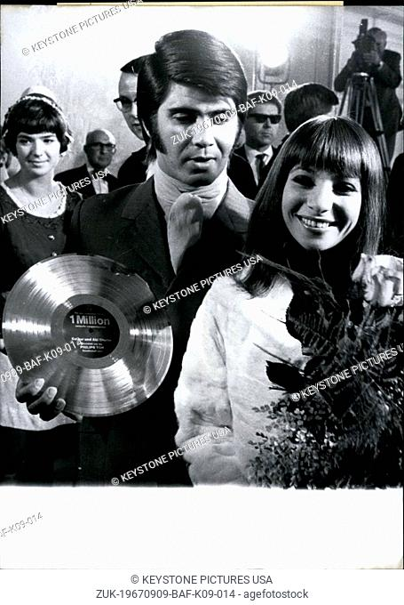 Sep. 09, 1967 - Grand success for Esther and Abi Ofarim: The Ofarims climb from success to success in their musical career