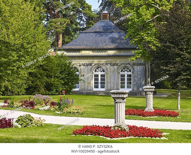 Castle Park Fantaisie with pavillon, Eckersdorf, Upper Franconia, Germany