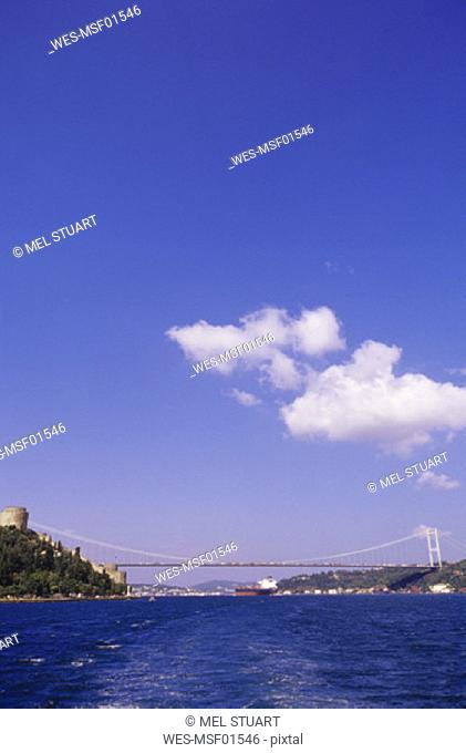 Istanbul, Bosporus and Bosporus Bridge, Turkey