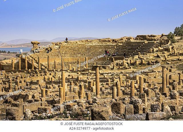 Algeria, Timgad City, Roman ruins of Timgad, UNESCO, (W. H. ), the Theater