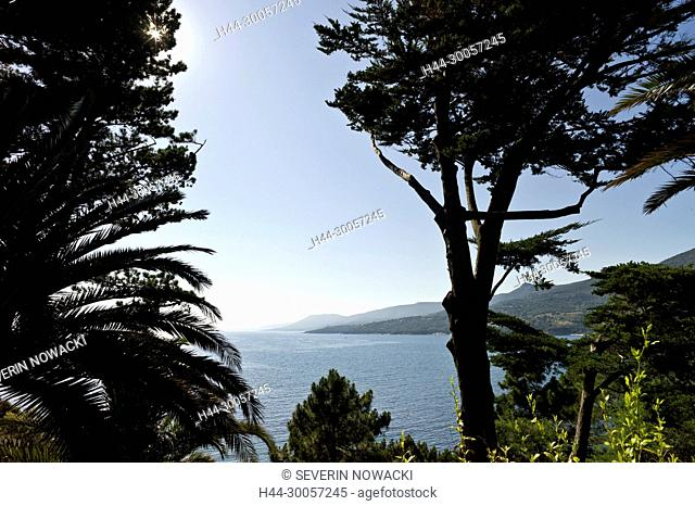 Mittelmeer Westkueste Golf von Propriano. Wanderung Mare a Mare sud 5. Etappe. Ste-Lucie-de-Tallano - Fozzano - Propriano. Korsika, Frankreich