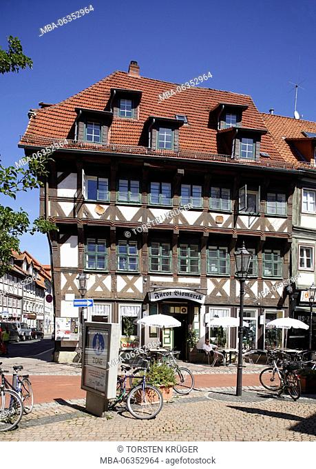 Göttingen: Historical half-timbered house in Johannisstrasse