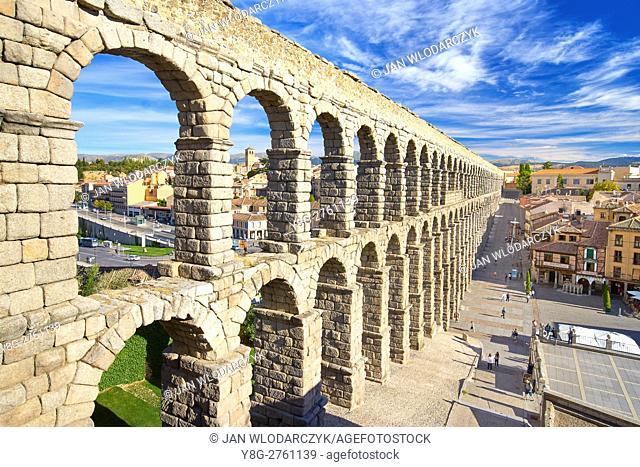 Roman aqueduct bridge, Segovia, Spain UNESCO