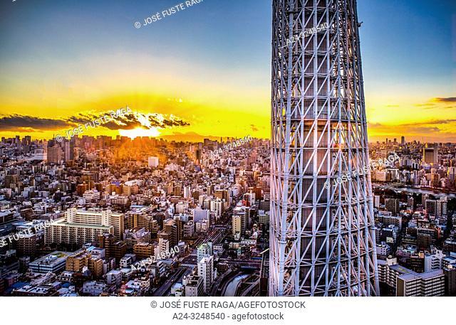 Japan, Tokyo City, Skytree Tower
