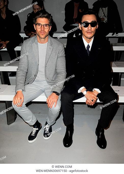 813b14a64a London Fashion Week Men s - Matthew Miller - Front Row Featuring  Darren  Kennedy