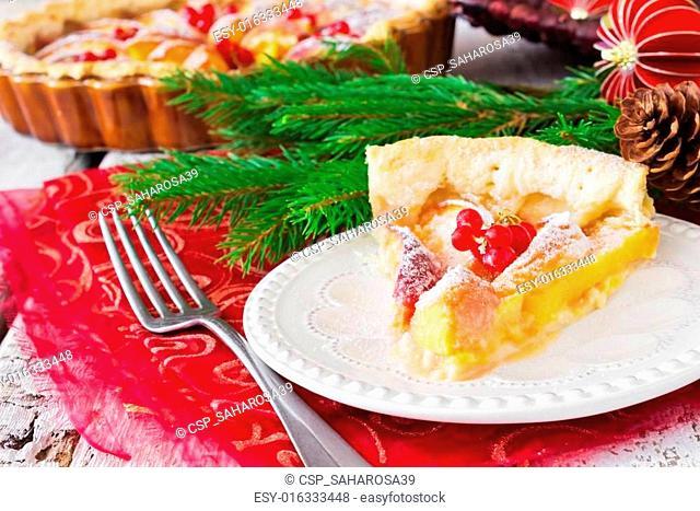 christmas piece of apple pie