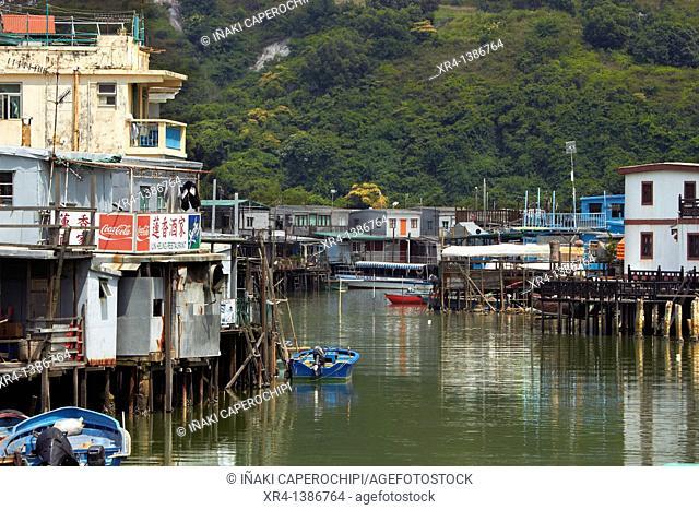 Tai O fishing port, Tai O, Lantau Island, Hong Kong, China