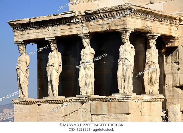 The Caryatid Porch of the Erechtheion, Athens, Greece
