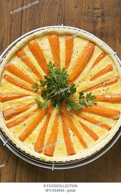 Carrot tart with parsley