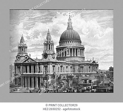 St.Paul's Cathedral, London, c1900. Artist: Frith & Co