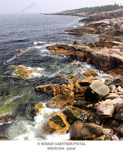 Rugged coastline at MacKinnons Cove in Cape Breton Highlands National Park