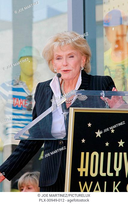 Jane Morgan at the Hollywood Chamber of Commerce ceremony to honor her with a star on the Hollywood Walk of Fame in Hollywood, CA, May 6, 2011