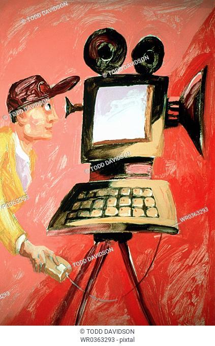 Man With Digital Video Camera